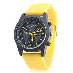 Masculino / Mulheres / Unissex Relógio Esportivo Quartz Borracha Banda Amarelo marca-