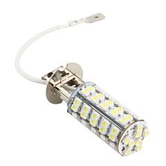 h3 68 LED SMD carro branco 220lm nevoeiro 12v lâmpada do farol