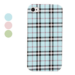 Grid Style Lagging PU Leather Case for iPhone 4 and 4S (Assorted Colors)
