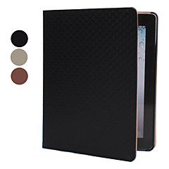 Grid Pattern Style Protective PU Leather Case for iPad 2/3/4 (Assorted Colors)