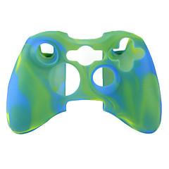 X 박스 360 컨트롤러 (녹색 및 파란색)에 대한 보호 듀얼 컬러 실리콘 케이스
