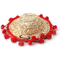 sombrero de paja de estilo mexicano para perros (colores variados tamaños)