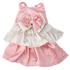 vestido de estilo elegante para perros (XS-XL, de color rosa)