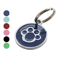 Dog Tag Casual Footprint/Paw Red Black Blue Rose Stainless Steel