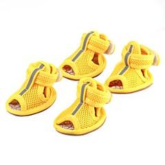 Calcetines y Botas para Perros Rojo / Azul / Rosado / Amarillo Primavera/Otoño S / M / L / XL Cuero PU