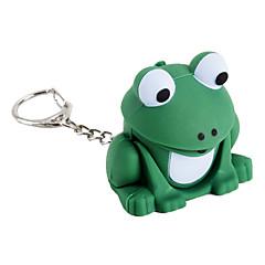 grenouille conduit trousseau lampe de poche avec des effets sonores froggy