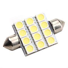 de alto rendimiento de 39 mm 12 * 5050 SMD LED blanco de iluminación del automóvil de la señal