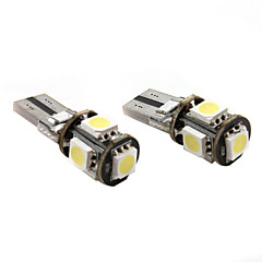 T10 5*5050 SMD White LED Car Signal Light CANBUS