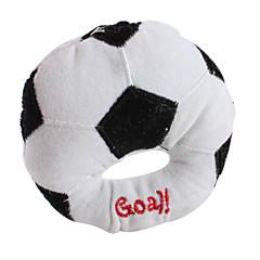 개를위한 평면 축구 스타일의 애완 동물 삐꺽이는 소리 장난감 (10 × 10cm)