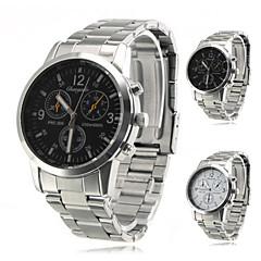 des hommes analogique en alliage montre-bracelet à quartz (d'argent)