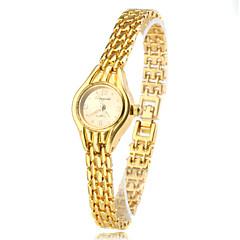 kvinder fashionable stil legering analog quartz armbånd ur (guld)