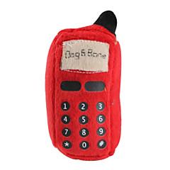 개를위한 무전기 스타일 소프트 애완 동물 삐꺽이는 소리 장난감 (12 X 6cm)