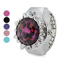 kvinnors transparent leopard stil legering analoga kvarts ring klocka (blandade färger)