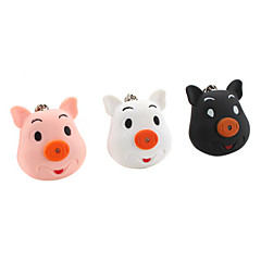 Lovely Pig Flashlight Keychain with Sound (Random Colors)
