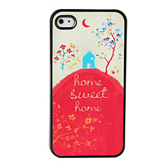 Lovely House Design Dull Polish Hard Case for iPhone 4 and 4S (Multi-Color)