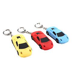 auto geluid en licht sleutelhanger (willekeurige kleuren)