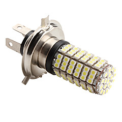 H4 4.2W 126x3528 SMD 6500-7000K White Light LED Blub for bil Lamps (DC 12V)
