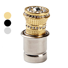 Car Cigarette Lighter with Small Decorative Crystals (Assorted Colors)