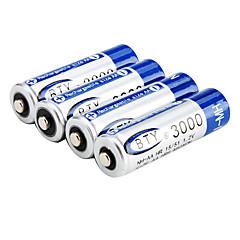 1.2V 3000mAh NH-AA Genopladeligt Batteri (Blå)