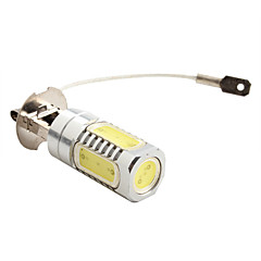 H3 7.5W 600LM 7000-8000K White Light High-Power LED Pære til autolamper (DC 12V)