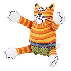 개를위한 호랑이 곡물 고양이 스타일 가스 충전 장난감 (노란색)