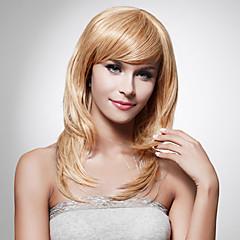 Capless lange hoge kwaliteit synthetische staight blond haar pruik