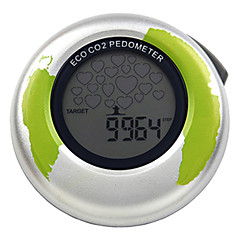 HOYOU Multifunction ECO Pedometer with Steps, Distance Calories and CO2 Running Walking