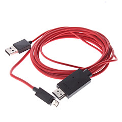 MHL Micro USB Macho para HDMI macho para USB cabo adaptador macho para Samsung Galaxy S3 I9300