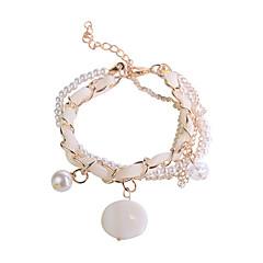Korean Fashion Chiffon Chain Pearl Pendant Bracelet