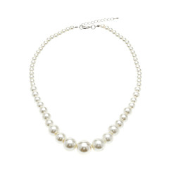 Tower Shape Imitation Pearl Necklace