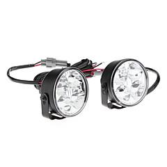 4-led ultra valkoinen valo pyöreä auton huomiovalaisimet (2-pack)