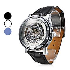 Moderiktigt Analogt Mekaniskt Armbandsur i PU-läder (Blandade färger)