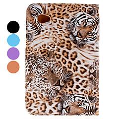 ochranné tygr pu pouzdro se stojánkem pro Samsung Galaxy tab2 p3100/p6200