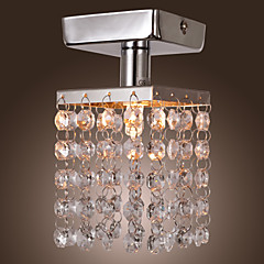 Max 25W Modern/Contemporary Crystal / Mini Style / Bulb Included Chrome Metal Chandeliers / Flush Mount Living Room / Bedroom / Entry