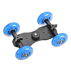 4 Wheel Desktop-DSLR-Kamera Film Photograph Rail Track Slider Tabelle Dolly Car (Blue)