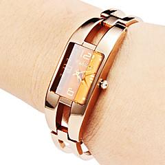 Oco mulheres do estilo da liga pulseira relógio de quartzo analógico (Bronze)