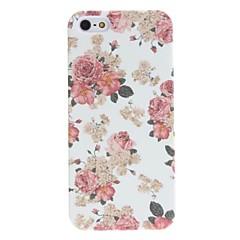 squisito caso duro motivo in rilievo del fiore di disegno per il iphone 5 / 5s