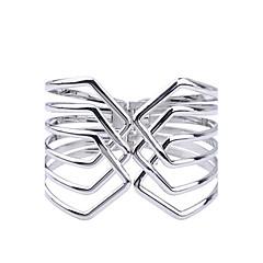 Fashion Silver Plated Glaze Geometric Shape Alloy Cuff Bracelet