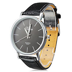 Unisex's PU Analog Quartz Wrist Watch (Black)