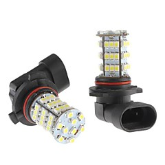 9006 4W 54x3528 SMD White LED lampa för bil dimljus (12V, 2-pack)