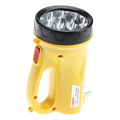 Lampe de poche LED jaune en plastique