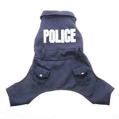 Abrigo con Pantalones Policial para Perritos (XS-XL, Azul)