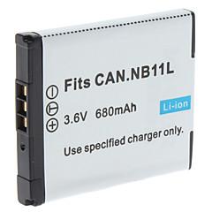 Digital Video Batteri Bytt Canon NB-11L for Canon IXUS 240HS og More (3.6V, 680 mAh)