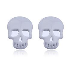 Kolczyki na sztyft Akrylowy Skull shape White Rose Biżuteria Na Impreza Codzienny Casual 2pcs