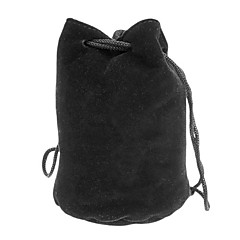 Protective Cotton Flannel Bag for Camera Lens C1 (70 x 105 mm, Black)