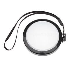 Mennon caméra 55mm Blanc Couverture Cap Solde objectif avec dragonne (noir et blanc)