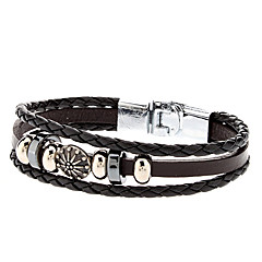 Accessory Elegant Combination Leather Rope Bracelet