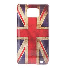 Estilo Retro Reino Unido Bandera Nacional Patrón duro caso para Samsung I9100 Galaxy S2