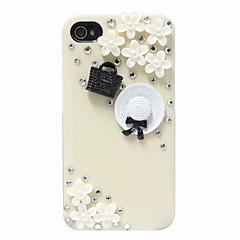 Chapeau de zircon et de cas Patron Sac pour iPhone 4/4S