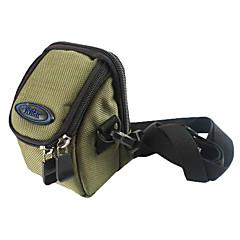 Ripstop polyester Polstret Soft Beskyttende bæreveske Bag Case med Kroker for Slim Kort Digital Camera - Army Green